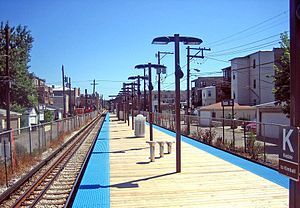 Kedzie station (CTA Brown Line) - Image: Kedzie cta brown line
