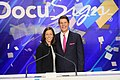 Keith Krach and Adena Friedman, DocuSign IPO April 2018.jpg