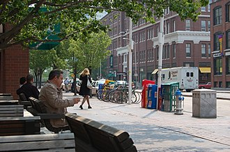 Kendall Square - A view of Main Street, at Cambridge Center