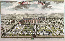 Kensington Palace South Front With Its Parterres, Engraved By Jan Kip, 1724