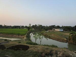 Parbatipur Upazila - Khorkhoria River at Parbatipur Upazila.