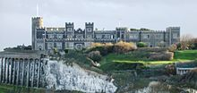 Kingsgate Castle, showing long building of current flats.