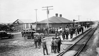 Kirkland Lake - Temiskaming and Northern Ontario Railway station in Kirkland Lake, 1920