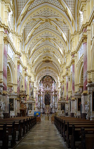 Ebrach Abbey - Former abbey church: nave with high altar