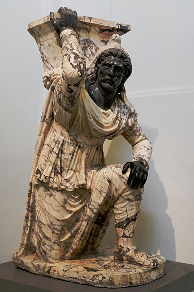 Kneeling Barbarian, Farnese collection