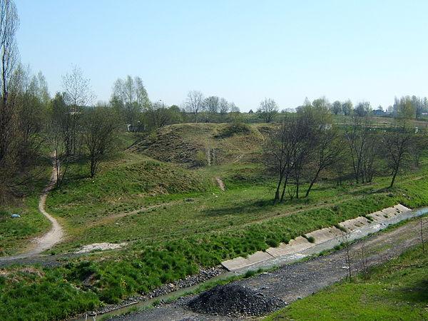 Kochłowice - grodzisko. Widok od południowego-zachodu. Autor: Przemek Noparlik, lic. CC BY-SA 3.0.