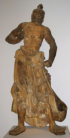 Kongorikishi statue from 14th century Japan.jpg