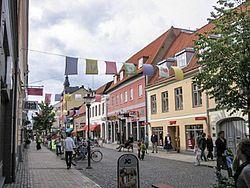 Kristianstadin keskustaa.