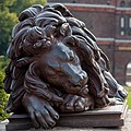 Lübeck Germany Sleeping-Lion-at-Holstentor-01.jpg