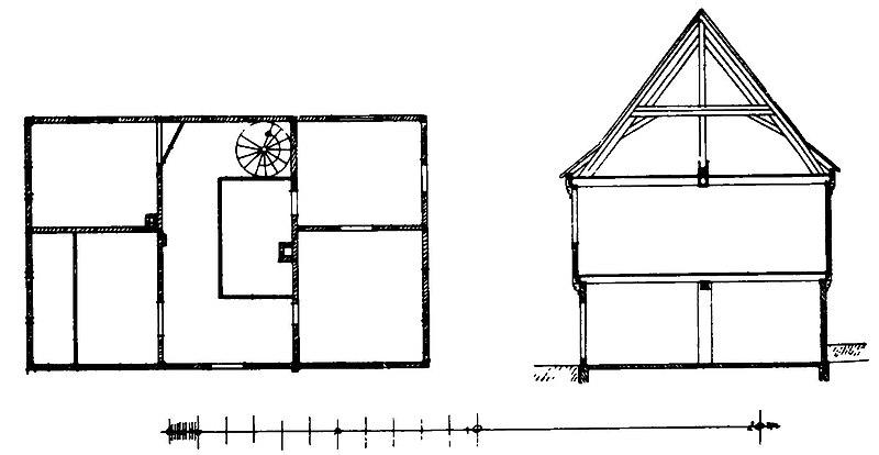 File:Lüneburg 174 Am Kreideberge 7 Grundriss und Schnitt.jpg