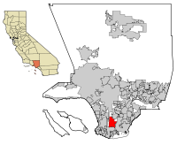 LA County Incorporated Areas Carson highlighted.svg