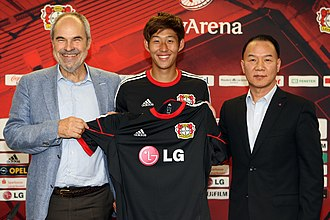 LG Corporation - Image: LG전자, 독일 프로축구팀 '레버쿠젠' 공식 후원 (1)