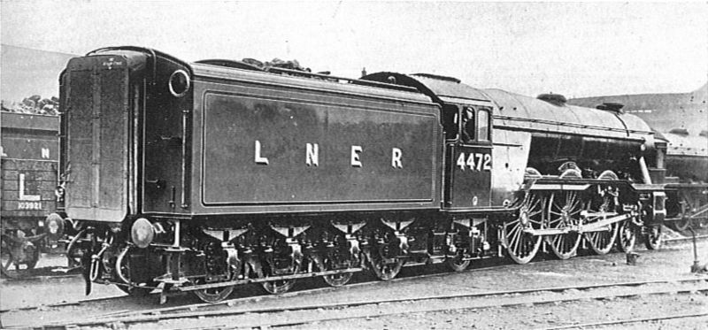 File:LNER pacific 4472 Flying Scotsman, with corridor tender (CJ Allen, Steel Highway, 1928).jpg