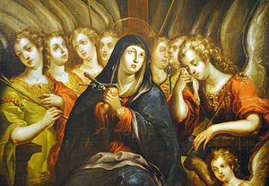Cristóbal de Villalpando - Cristóbal de Villalpando. Our Lady of Sorrows. Between 1680 - 1689. Col. Museo Soumaya (Detail)
