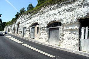 Les «boves» de La Roche-Guyon, Val-d'Oise.