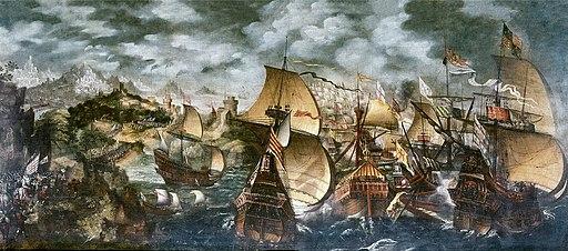 La batalla de Gravelinas, por Nicholas Hilliard