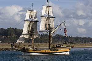 Lady Washington - Lady Washington on Morro Bay in California