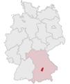 Lage des Landkreises Pfaffenhofen a.d.Ilm in Deutschland.PNG