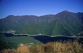 Lake Sai and Aokigahara from Koyodai.jpg