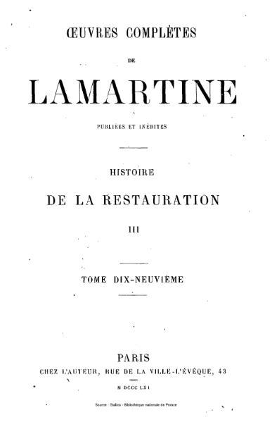 File:Lamartine - Œuvres complètes de Lamartine, tome 19.djvu