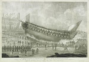 French ship Charlemagne - Image: Lancement du charlemagne