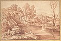 Landscape with Figures on the Bank of a River MET DP152868.jpg