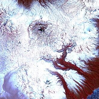 Valley of Geysers - Infra-red image of the landslide (20 June 2007)