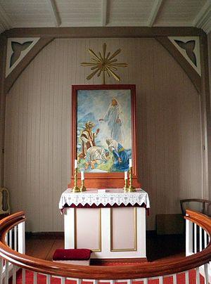 Langfjord Church - The altar in Langfjord Church