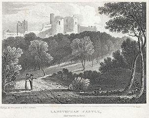 Lanstephan Castle: Caermarthenshire