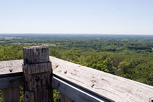 Lapham Peak Unit, Kettle Moraine State Forest - View from peak tower
