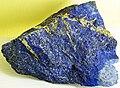 Lapis lazuli (lazuritic metamorphite) (Sar-e-Sang Deposit, Sakhi Formation, Precambrian, 2.4-2.7 Ga (?); Sar-e-Sang Mining District, Hindu-Kush Mountains, Afghanistan) 8 (49166327833).jpg
