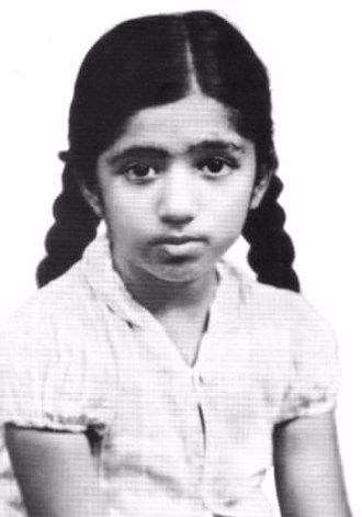 Lata Mangeshkar - Childhood photo of Lata Mangeshkar