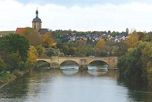Lauffen am Neckar - Neckar bridge at Lauffen