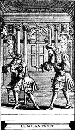 Misanthropy - Le Misanthrope, 1719 ed.