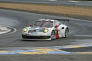 2013 24 Hours of Le Mans - The LMGTE Pro class-winner No. 92 Porsche 991 RSR of Porsche AG Team Manthey