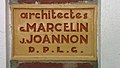 Le Touquet-Paris-Plage plaque architecte Marcelin et Joannon.jpg