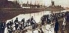 Le Tour des Flandres 1929 emprunte le bord du canal reliant Bruges à Ostende