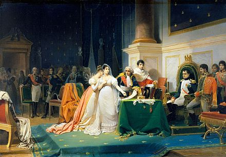 The Divorce of the Empress Josephine in 1809 by Henri Frederic Schopin Le divorce de l'Imperatrice Josephine 15 decembre 1809 (Henri-Frederic Schopin).jpg