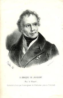 Le marquis de Jaucourt, pair de France.