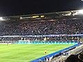 Le mur bleu - Stade de la Meinau - Racing club de Strasbourg contre le LOSC (Coupe de la ligue).jpg