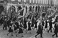 Leger des Heils demonstreert op Binnenhof ivm positie van afd. reclassering Lege, Bestanddeelnr 932-8493.jpg