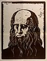 Leonardo da Vinci. Reproduction of woodcut by E. Lenci, 1928 Wellcome V0006068.jpg