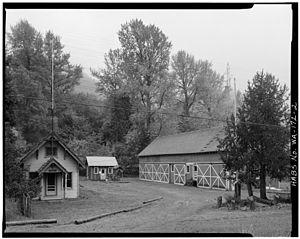 Lester, Washington - Image: Lester Guard Station Looking SW