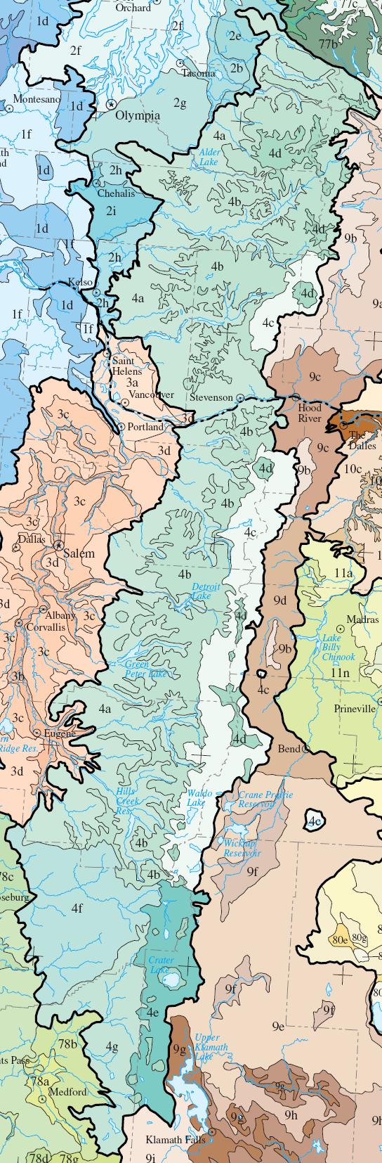 Level IV ecoregions, Cascades