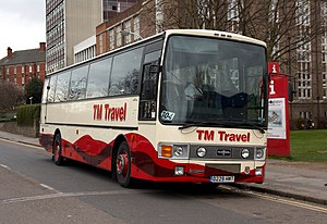 TM Travel - Van Hool bodied Leyland Tiger in Chesterfield in March 2009
