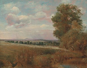 Landscape at Hampstead, with Harrow in the Distance