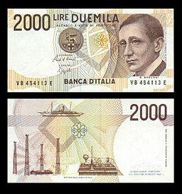 Lire 2000 (Guglielmo Marconi)