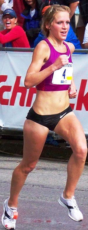 Lisa Uhl - Lisa Uhl winning the 2010 Bix 7 Road Race