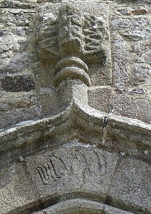 Fleuron (architecture) - Image: Livré sur Changeon (35) Église Notre Dame 05