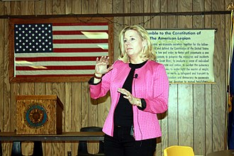 Liz Cheney - Liz Cheney campaigning for the U.S. Senate in Buffalo, Wyoming